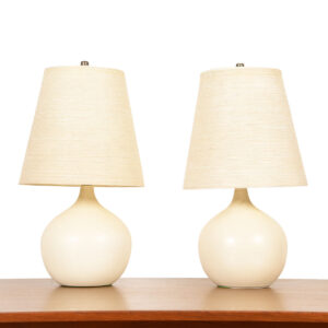 Pair of Small Round Bostlund Lamps