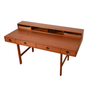 Early 1967 'Flip-Top' Danish Modern Teak Expanding Partner's Desk