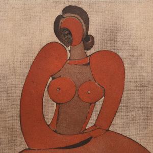 Modernist Portrait of a Nude by Domenico Colanzi